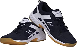 HINDON Navy Blue/White Badminton Shoes