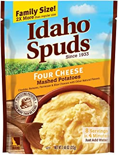 Idaho Spuds Family Size, Four Cheese Mashed Potatoes, 6 Count