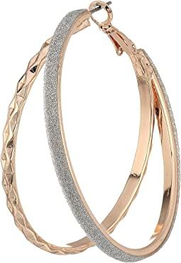 GUESS - Double Glitter Hoop Earrings