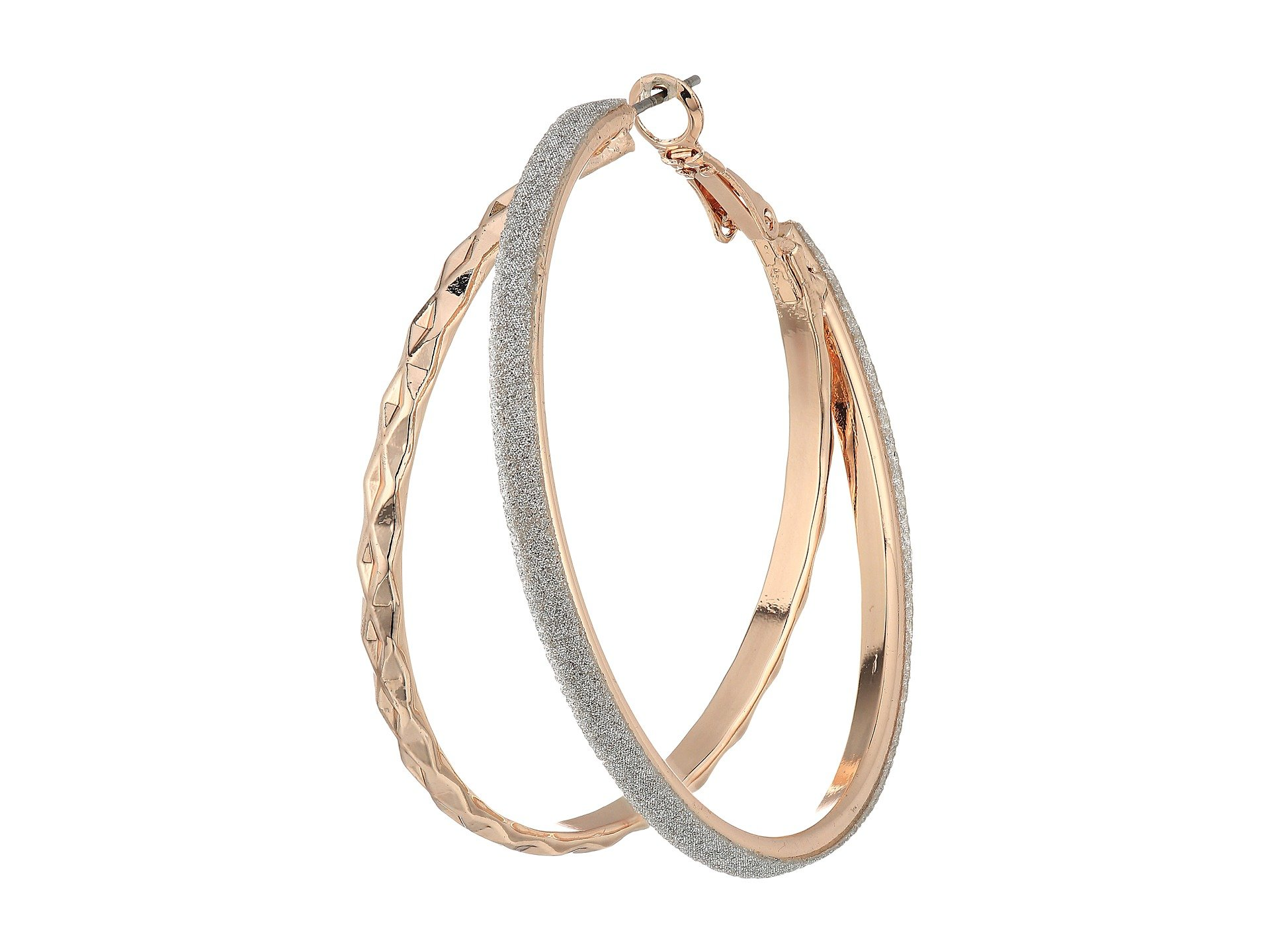 guess double glitter hoop earrings at. Black Bedroom Furniture Sets. Home Design Ideas