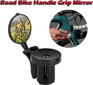 charmsamx Bar End Bike Mirror, Plastic Lens, 360 Degree Adjustable Safe Rearview Bicycle Helmet Mirror Bicycle Bike Cycle Handlebar Mirror