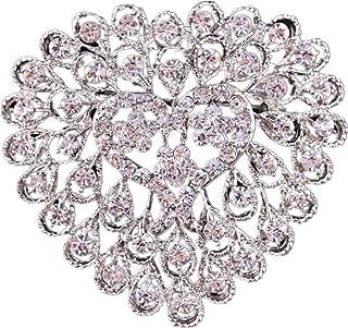 Jixing Pince de Mariage Cristal Broche Mariage /épingle Broche Foulard Strass ch/âle Alliage de Zinc Blanc