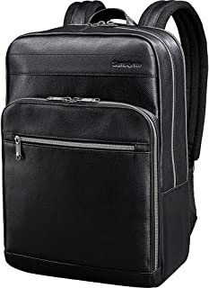 Samsonite Leather Slim Laptop Backpack (Black)
