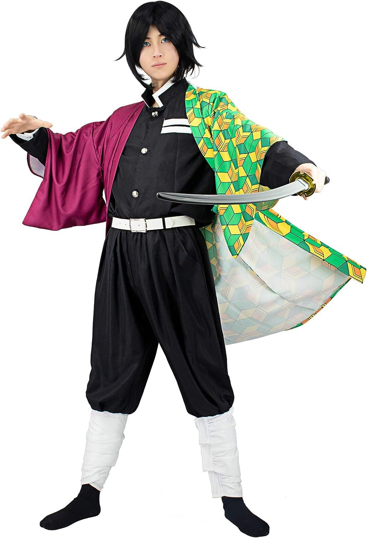 C-ZOFEK Men's US Department store Size Giyuu Tomioka Limited Special Price Costume S Team Cosplay Black