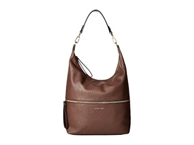 Calvin Klein Elaine Bubble Lamb Novelty Hobo (Walnut) Hobo Handbags