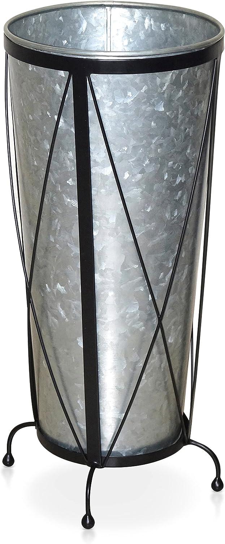 Entryway Umbrella Holder Stand - Galvanized Umbrella Holder Indoor, Cane Holder Stand for Home Office Decor, 11