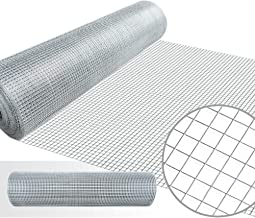 36inx50ft 1/2 in 19gauge Hardware Cloth Galvanized Welded Cage Wire Mesh Rolls Square Chicken Wire Netting Raised Garden Beds Rabbit Fence Snake Fencing Rodent Animals Weasel Gopher Moles Raccoons