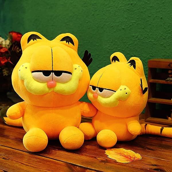 My Super Star 可爱加菲猫毛绒公仔礼物玩具毛绒抱枕男孩女孩黄色猫咪动物卡通人物 25 厘米