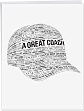 Great Coach Thank You - Team Thank You Card with Envelope (Extra Large 8.5 x 11 Inch) - Gratitude, Thanks, and Graduation Notecard for Awesome Managers, Boss, Coach, Leader or Mentor J6767TYG-US