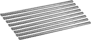 Pinnacle Mercantile 4 Foot Ground Stakes Extra Heavy Duty Anti-Rust Galvanized 8-Pack Rebar 1/2 inch Round Steel Plant Support Snow Fence