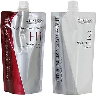 Hair Rebonding Shiseido Professional Crystallizing Hair Straightener (H1) + Neutralizing Emulsion (2) for Resistant to Nat...