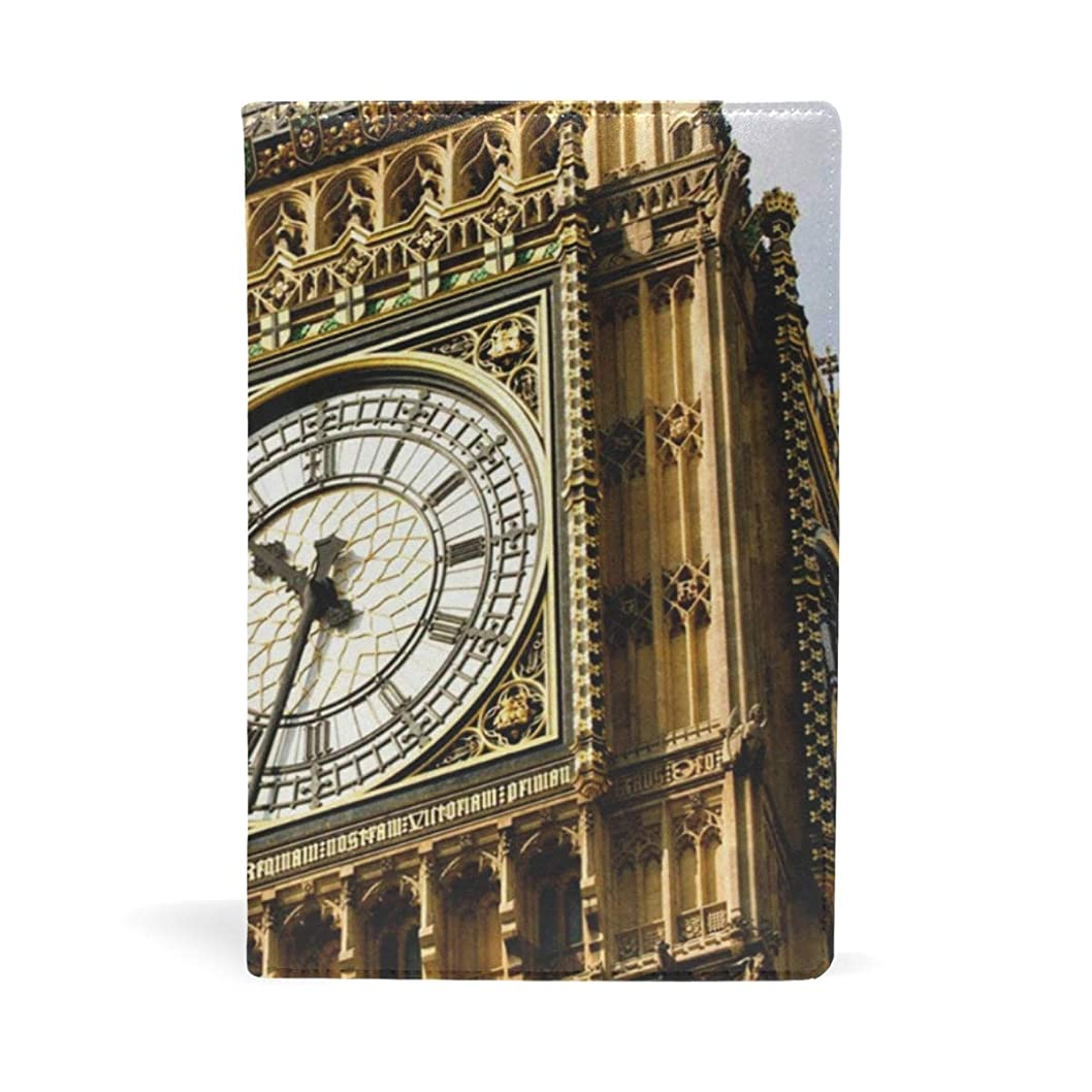 麺ジャンル靴下ブックカバー 文庫 a5 皮革 レザー ビッグベン イギリス ロンドン 文庫本カバー ファイル 資料 収納入れ オフィス用品 読書 雑貨 プレゼント