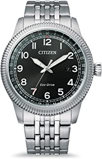 Citizen Men's Analogue Eco-Drive Watch with Stainless Steel Strap BM7480-81E
