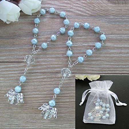 First Communion Favor White Rosaries Favor Baby Baptism Favor Mini Rosaries Favors Boy Baptism Favors Baptism Rosary Mini Rosary Favor