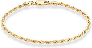 18K Gold Over Sterling Silver Italian 2mm, 3mm...