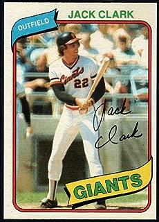 Baseball MLB 1980 Topps #167 Jack Clark Giants
