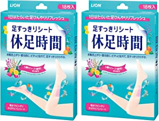 Lion Adhesive Foot Care Patch Relieve Stress & Improve Sleep, 18 Sheets X 2 Pack (36 Sheets)