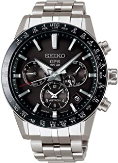 astron Mens Analog Solar Watch with Stainless Steel Bracelet SSH003J1