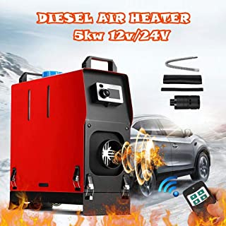 IRONWALLS Car Fuel Diesel Air Heater Forced Air Parking Heater with Remote 5KW 12V All In 1 Integrated Machine For Truck Motor Boat Trailer