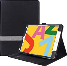 ProCase iPad 10.2 7th Generation Case 2019, Leather Stand Folio Cover Case with Multi-Angle Viewing and Pencil Holder for Apple iPad 10.2 Inch 2019 -Black