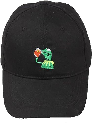 LiwnzhenSH Classique Kermit la Grenouille Sirougeant Thé réglable Strapback Chapeau Casquette de Baseball pour Adulte