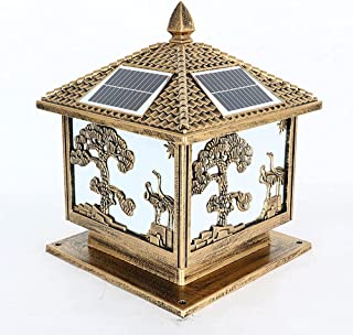 Solar LED Pillar Light Intelligent Light Control Solar Pillar Lamp Songhe Solar Column Lamp Enclosure Gate Pillar Lamp for...