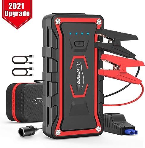 YABER Arrancador de Coches, 20000mAh 1600A Arrancador de Baterias de Coche (para Todo vehículo de Gasolina o 7.0L de ...