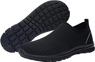 DYKHMATE Chaussures de Sécurité Homme Femme Séchage Rapide Imperméable Embout Acier Protection Chaussures de Travail Leger...