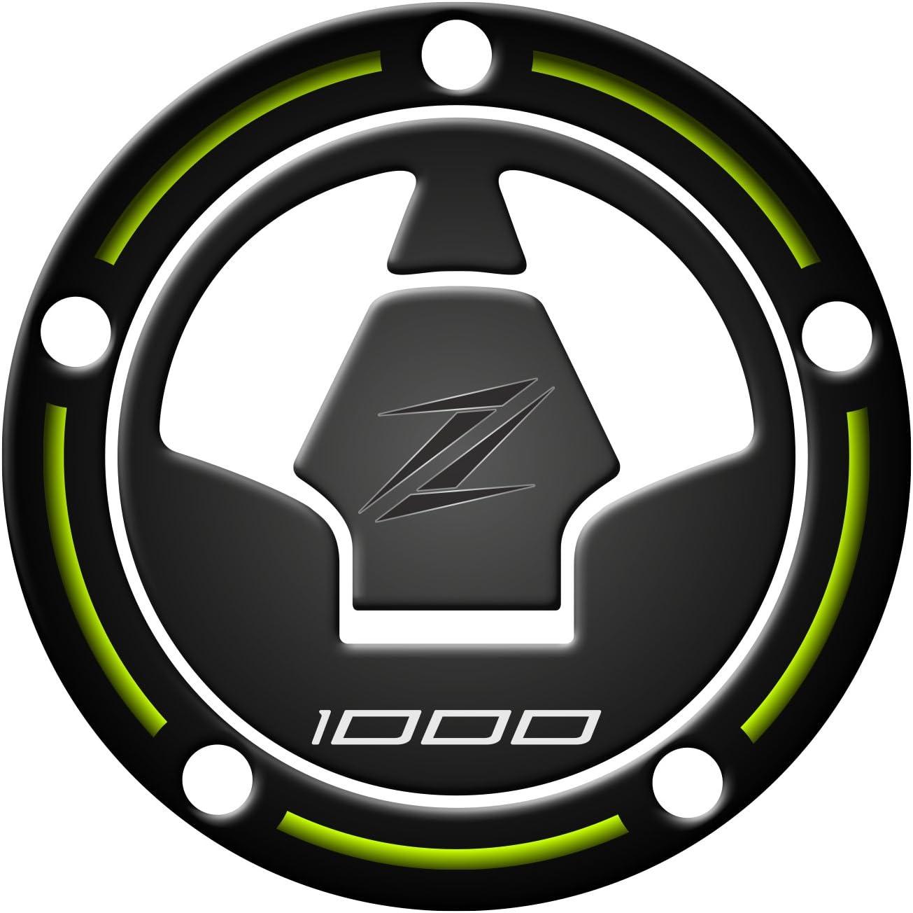 Adhesivo de protecci/ón para el tap/ón de combustible de resina en 3D para moto Kawasaki Z1000/de 2010-2017/GP-396 Para evitar ara/ñazos de cremalleras Lima