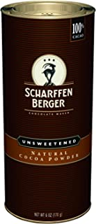 SCHARFFEN BERGER Unsweetened Natural Cocoa Powder, holiday baking supplies, 6-Ounce Canister