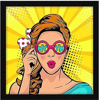 ArtX Paper Beautiful Women Pop Art Wall Art, Multicolor, Abstract, 13X13 in, Set of 1
