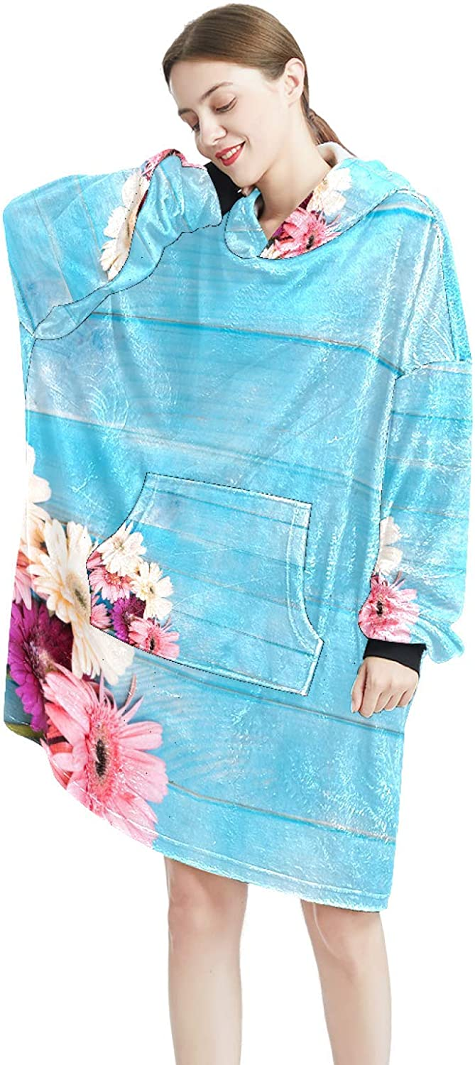 Cozy Oversized All items free shipping Maternity Hoodie Blanket Deluxe Pink Print Pullove Bunch