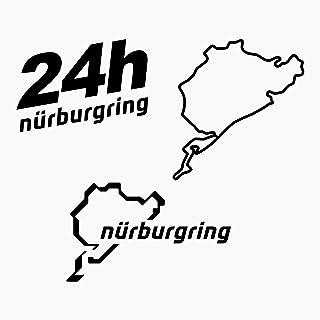Autodomy Pegatinas Nurburgring Pack de 3 Unidades para Coche o Moto (Negro)