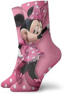 JONINOT, Calcetines de dibujos animados de Minnie Mouse Crew Comfort Casual Sports Teens Anime Tobillo Rendimiento Acogedor W8.5CM x L30CM