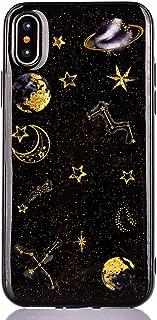 iPhone 8 Plus H/ülle Edaroo Bling Gl/änzend Einhorn Schloss Muster Glitzer Glitter Shiny Sparkle Sterne Case Handyh/ülle Sto/ßfestd Schwarz TPU Gel Silikon Bumper f/ür iPhone 7 Plus//iPhone 8 Plus 5,5