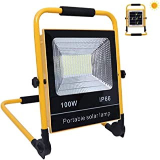 100W LED Rechargeable Work Light Flood Lights Outdoor Cordless Solar Flood Lights Built In Battery 18000Mah 4 Modes of Bri...