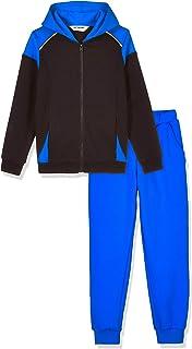 Kid Nation Kids Unisex Soft Brush Fleece Tracksuit Zip up Jacket and Jogger Pants 4-12 Years