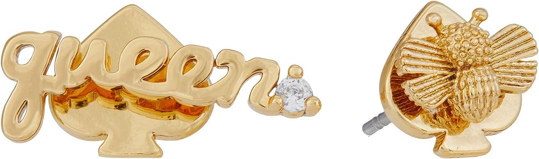Kate Spade New York Love You Mom Queen Bee Asymmetrical Studs Earrings