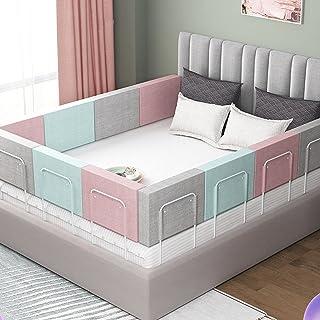 ベッドガード 布団落下防止 ベビーベッド ガード 防止被褥坠落 ベッド 柵 易于组装,因此儿童不会从床上掉下来,并且便于存放婴儿。