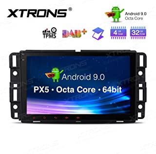XTRONS 8 Inch Android 9.0 Car Stereo Radio Player Octa Core 4G RAM 32G ROM GPS Navigation Multi-Touch Screen Head Unit Supports Screen Mirroring WiFi OBD2 DVR TPMS for GMC Chevrolet Hummer