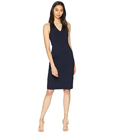 Susana Monaco Chloe V-Neck Dress (Midnight) Women