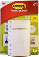 Command Indoor Picture Hanging Strips 34 Large Pairs 68 Strips