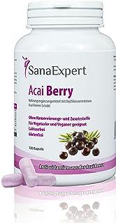 SanaExpert Acai Berry | EXTRACTO PURO DE ACAI BERRY | alta dosis de 4000 mg de fruta Acai (120 comprimidos) Ingredientes 1...