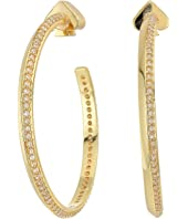 Kate Spade New York - Raise The Bar Pave Hoops Earrings