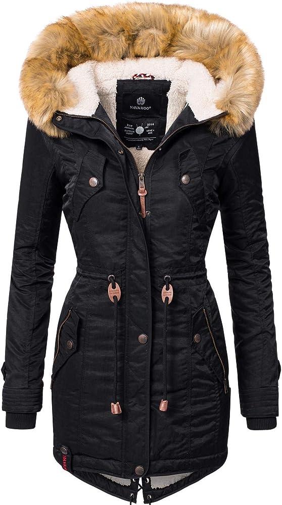 Navahoo , cappotto invernale da donna,con capuccio e imbottito, parka super trendy La Viva