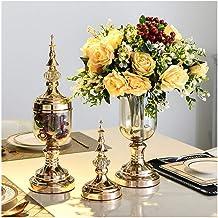 Flowers Vase Modern Decoration with Cover Bouquet Arrangement Bride Wedding Set (1 Set 2 Pieces) Flower Bottle