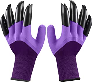 Garden Gloves with Claws Digging soil and planting gardening gloves garden split claw gloves