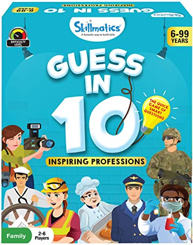 Skillmatics Educational Game: Inspiring Professions - Guess In 10 (Ages 6-99 Years) | Card Game of Questions | Genera...
