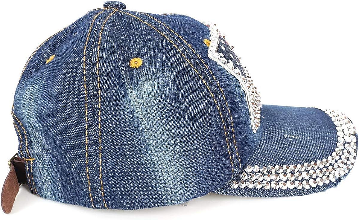 American Flag Baseball Cap Sparkle Rhinestone USA Flag Deim Hip Hop Hat