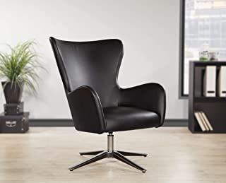 Office Star Wilma Home Office Arm Chair, Black